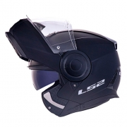 Capacete LS2 FF902 Scope Monocolor Preto-fosco Escamoteável