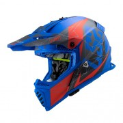 Capacete LS2 MX437 Fast Alpha Azul Vermelho