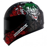 Capacete Norisk FF391 Stunt Joker Preto Coringa