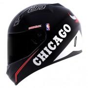 Capacete Norisk FF391 Stunt NBA Chicago Bulls Preto