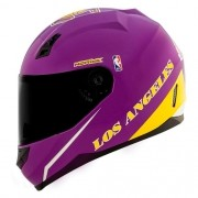 Capacete Norisk FF391 Stunt NBA Los Angeles Lakers Roxo