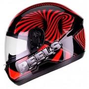 Capacete PEELS Spike 3D Preto/vermelho Lançamento