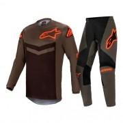 Conjunto ALPINESTARS Fluid Speed Camisa + Calça Laranja Cinza