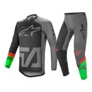 Conjunto ALPINESTARS Racer Compass Camisa + Calça Cinza