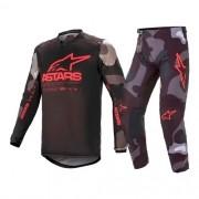 Conjunto ALPINESTARS Racer Tactical Camisa + Calça Vermelho Preto