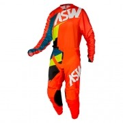 Conjunto ASW Image Camisa + Calça Force Laranja Amarelo