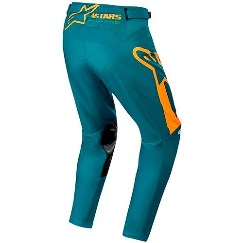 Calça ALPINESTARS Racer Supermatic Azul-petróleo/laranja Promoção