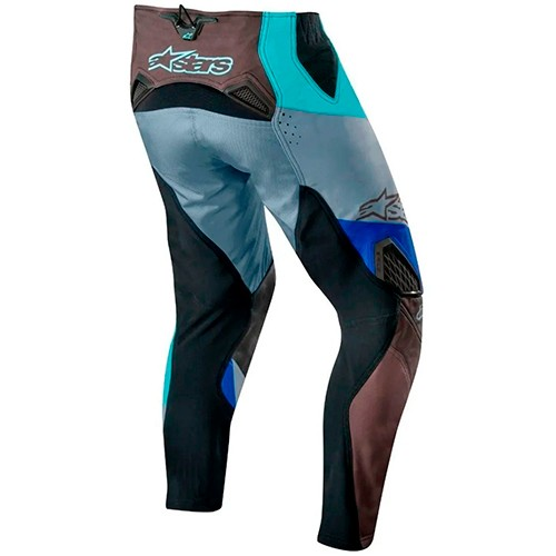 Calça ALPINESTARS Racer Techstar Venom Azul-turquesa/Cinza Promoção