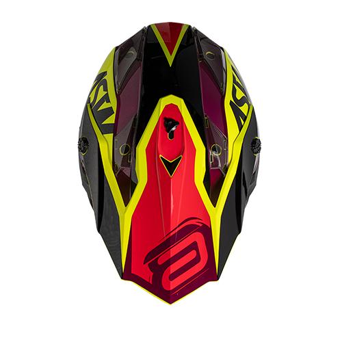 Capacete ASW Fusion Blast Vermelho Amarelo Flúor Lançamento 2020