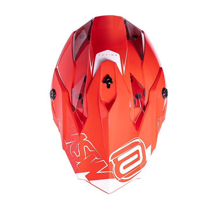 Capacete ASW Fusion Sharp Vermelho Branco Lançamento