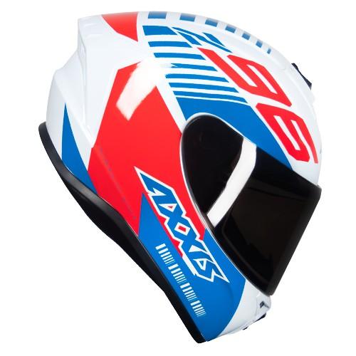 Capacete AXXIS Draken Z96 Vermelho Azul