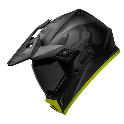 Capacete BELL MX-9 Adventure MIPS Stealth Camo Preto Flúor Lançamento