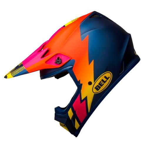 Capacete BELL MX-9 MIPS Strike Laranja Amarelo Rosa Fosco Lançamento