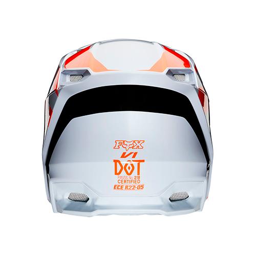 Capacete FOX MVRS PRIX Laranja Preto Lançamento 2020