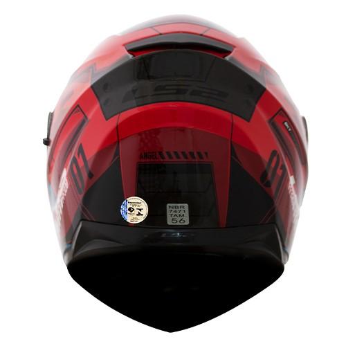 Capacete LS2 FF320 Stream Angel Vermelho