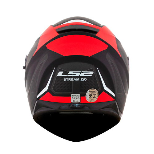 Capacete LS2 FF320 Stream Edge Preto Vermelho