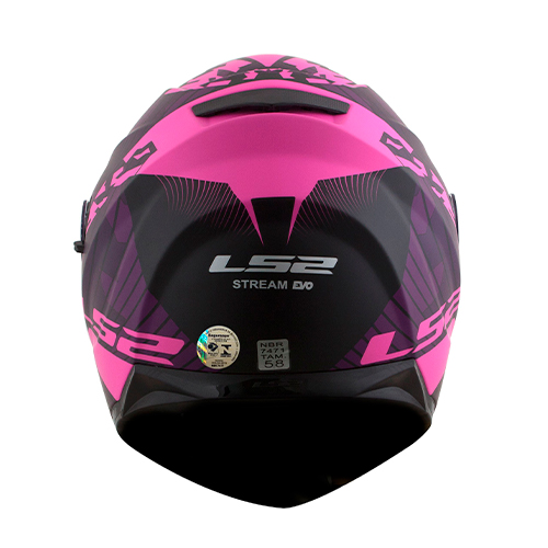 Capacete LS2 FF320 Stream Hype Roxo Rosa