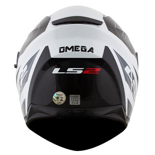 Capacete LS2 FF320 Stream Omega Preto Branco