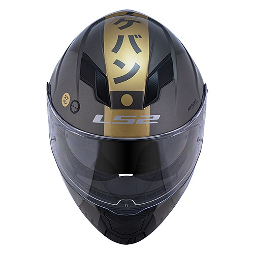 Capacete LS2 FF320 Stream Sukeban Cinza Dourado