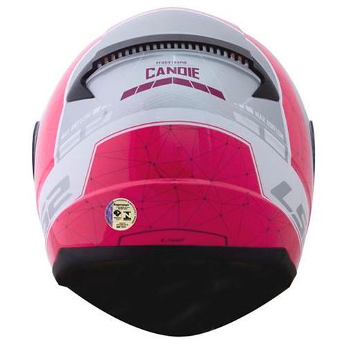Capacete LS2 FF353 Rapid Candie Prata Rosa