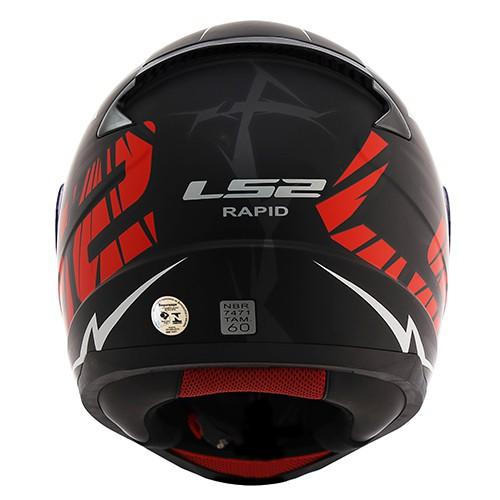 Capacete LS2 FF353 Rapid Cromo Preto Vermelho