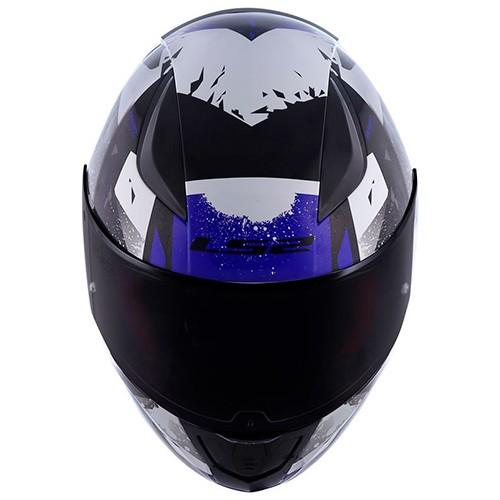 Capacete LS2 FF353 Rapid Grow Azul Cinza
