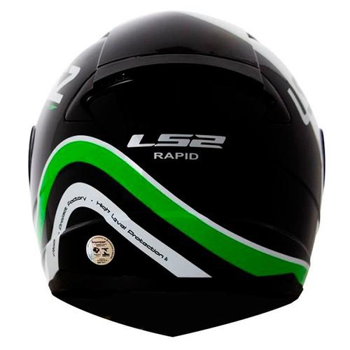 Capacete LS2 FF353 Rapid Stark Preto Verde