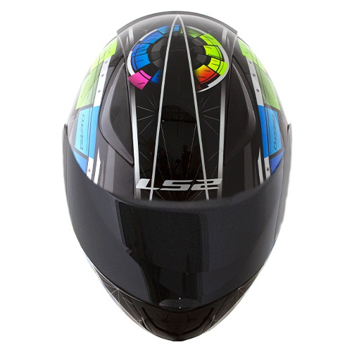 Capacete LS2 FF353 Rapid Tech Preto Color