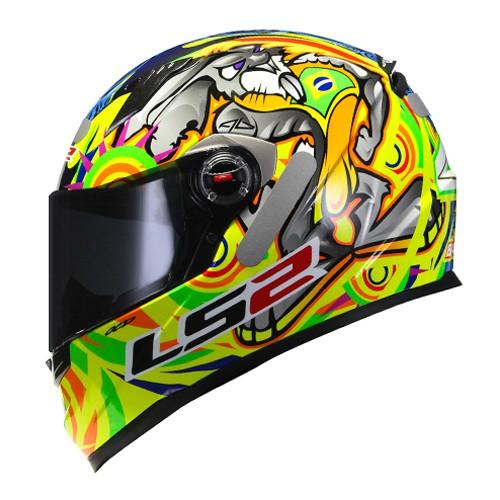 Capacete LS2 FF358 Classic Alex Barros Réplica Amarelo