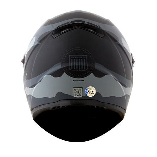 Capacete LS2 FF358 Classic Army Preto Cinza