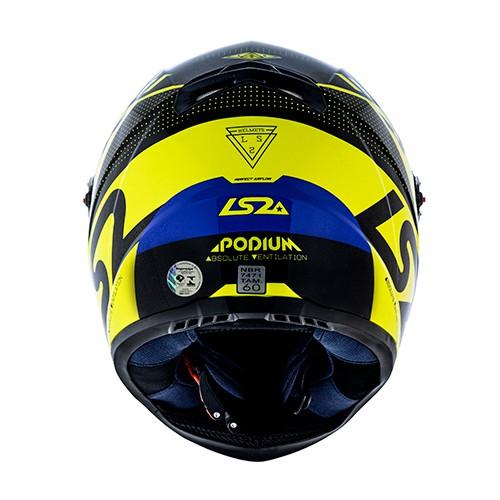 Capacete LS2 FF358 Classic Podium Amarelo Azul