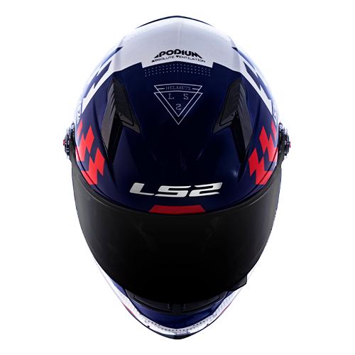 Capacete LS2 FF358 Classic Podium Azul Vermelho
