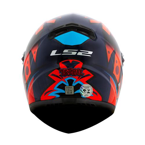 Capacete LS2 FF358 Classic Tribal Laranja Azul Preto