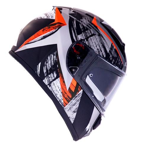 Capacete LS2 FF397 Scratch Preto Vermelho