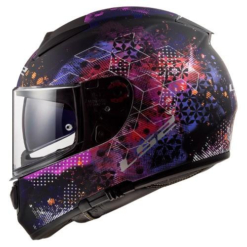 Capacete LS2 FF397 Vector Cosmos Preto Violeta