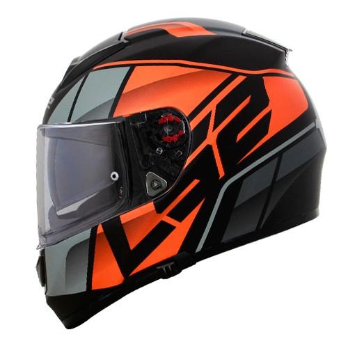 Capacete LS2 FF397 Vector Kripton Preto/laranja