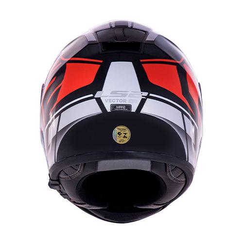 Capacete LS2 FF397 Vector Kripton Vermelho Branco