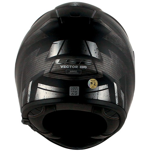 Capacete LS2 FF397 Vector Razor Preto Cinza