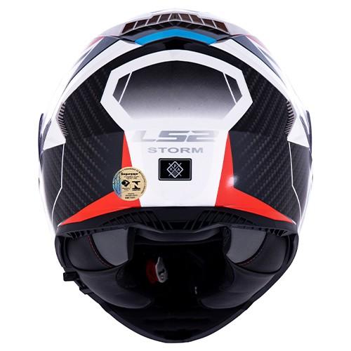 Capacete LS2 FF800 Storm Racer Azul/Vermelho Lançamento
