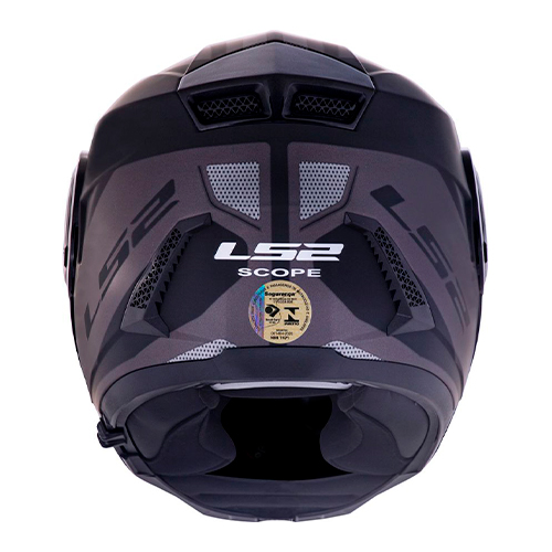 Capacete LS2 FF902 Scope Mask Preto/titanium Escamoteável