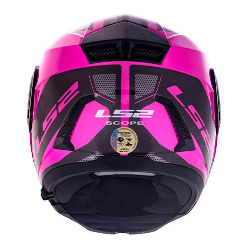 Capacete LS2 FF902 Scope Mask Preto/rosa Escamoteável Feminino