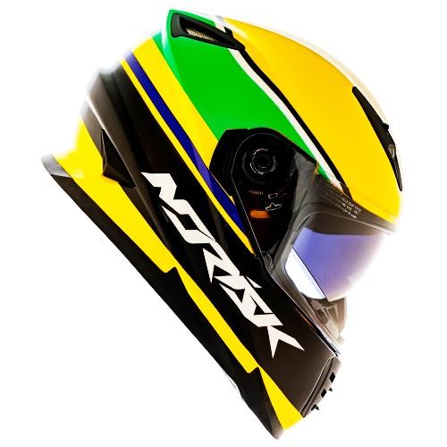 Capacete NORISK FF302 Soul Champion Verde Amarelo Ayrton Senna
