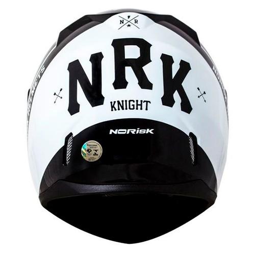 Capacete Norisk FF391 Stunt Knight Preto Branco