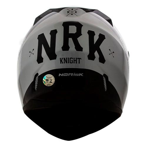 Capacete Norisk FF391 Stunt Knight Preto Prata