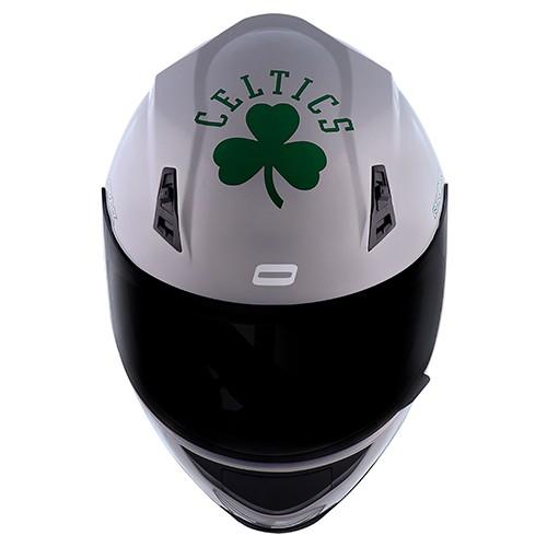 Capacete Norisk FF391 Stunt NBA Boston Celtics Prata