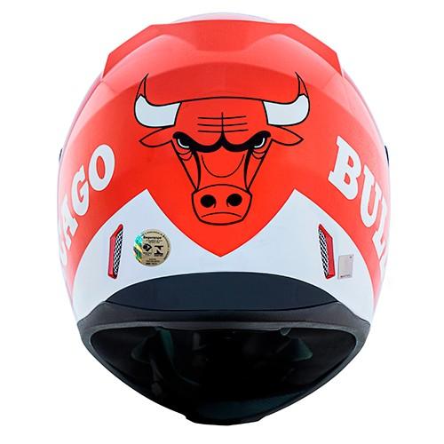 Capacete Norisk FF391 Stunt NBA Chicago Bulls Vermelho