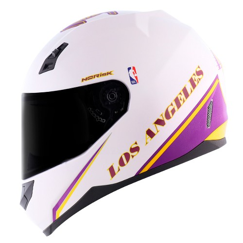 Capacete Norisk FF391 Stunt NBA Los Angeles Lakers Branco