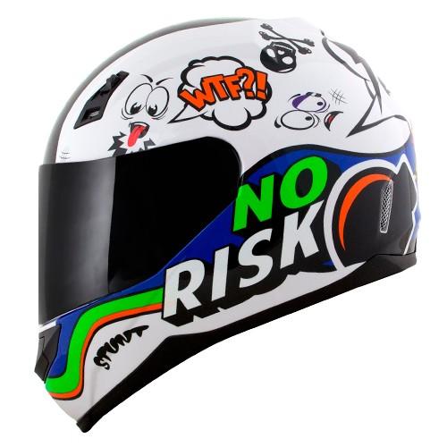 Capacete Norisk FF391 Stunt Panic Branco Color