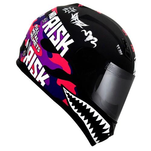 Capacete Norisk FF391 Stunt Ride Hard Preto/rosa