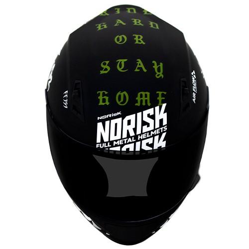 Capacete Norisk FF391 Stunt Ride Hard Preto/verde